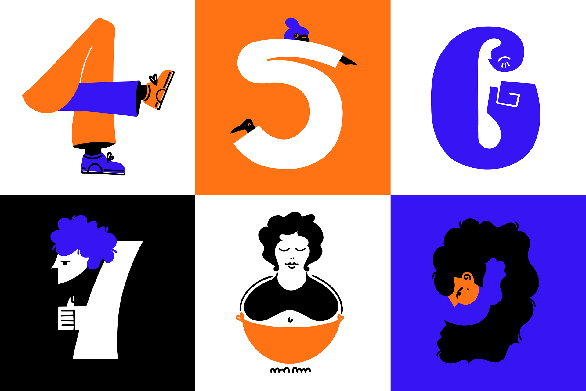 Illustrating the 36 glyphs of the alphabet for 36 Days of Type edition 8