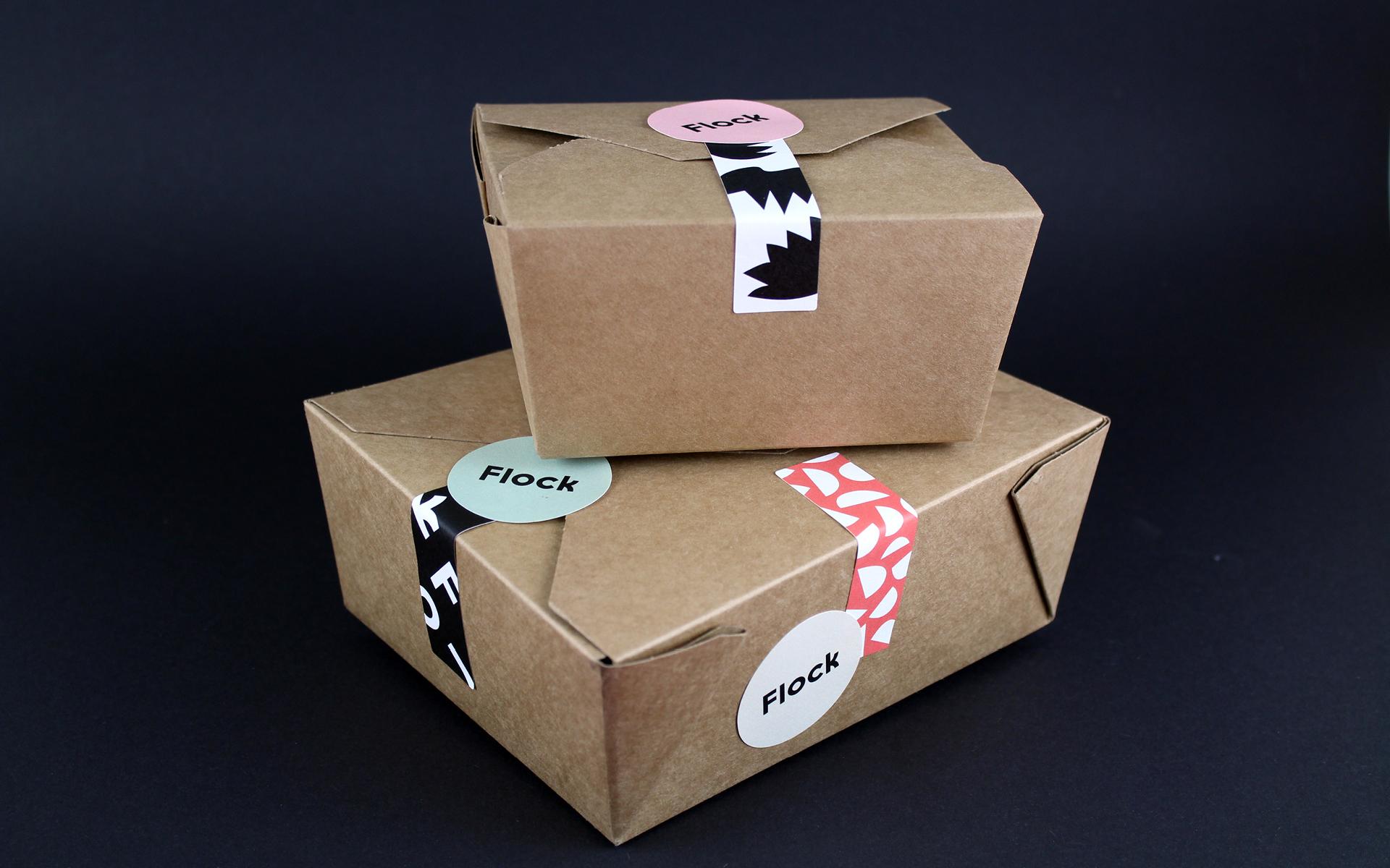 Flock branded packaging