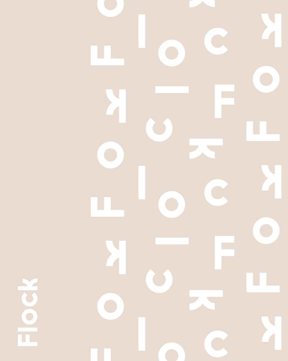 Flock logo and brand identity pattern
