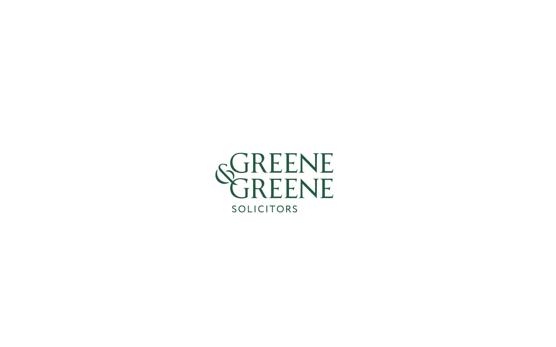 Greene & Greene stacked logo design