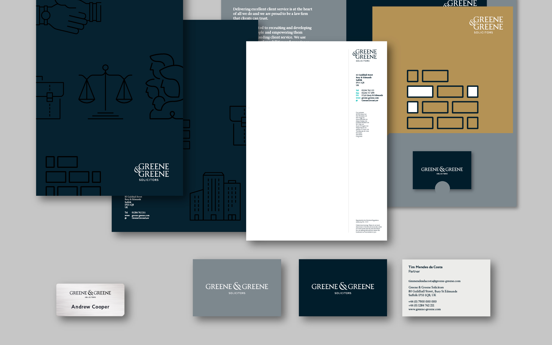 Stationery design mock up for Greene & Greene