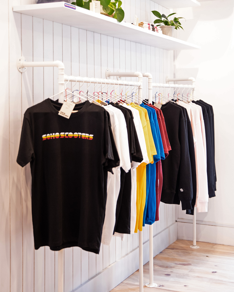 Line of branded clothing for Soho Scooters
